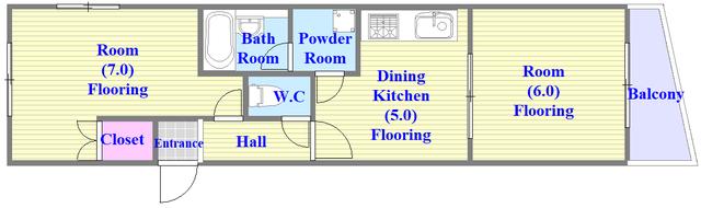 クリスタルアーク ひとつひとつのお部屋が、ゆとりのある間取りになってます。