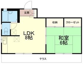 榎本荘1階Fの間取り画像