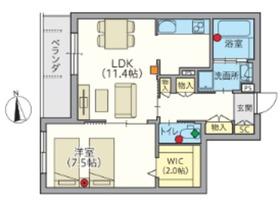 (シニア限定)アルセ武蔵境2階Fの間取り画像