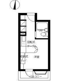 インペリアル南麻布サテライト2階Fの間取り画像
