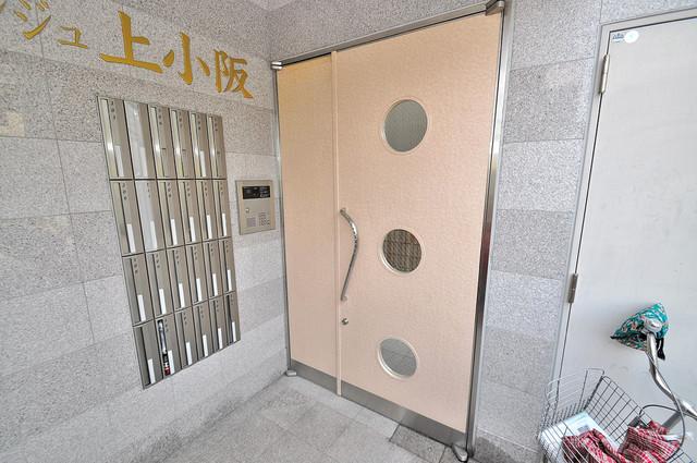オランジュ上小阪 高級感があるエントランスは安心のオートロック完備です。