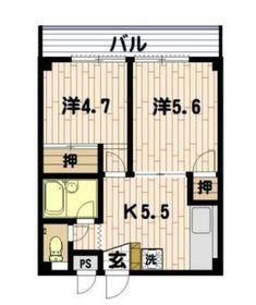 マンション松葉1階Fの間取り画像