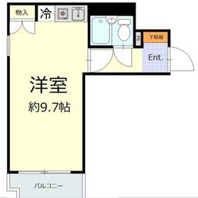 NICEアーバンスピリッツ生麦3階Fの間取り画像