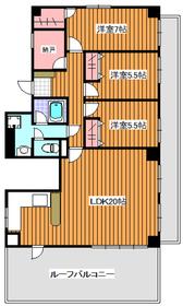 地下鉄成増駅 徒歩3分6階Fの間取り画像