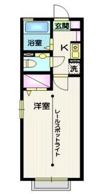 パル平塚 Ⅲ1階Fの間取り画像