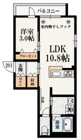 GRAPHITE HOUSE2階Fの間取り画像