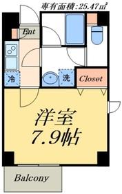 デュオメゾン東京スカイツリー4階Fの間取り画像