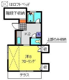 ラ・ヴェル ハル2階Fの間取り画像