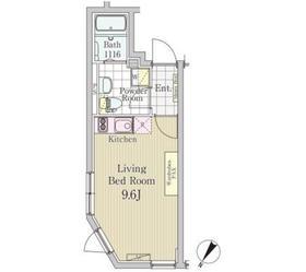 LAPiS白金高輪2階Fの間取り画像