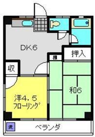 トキワダイマンション1階Fの間取り画像