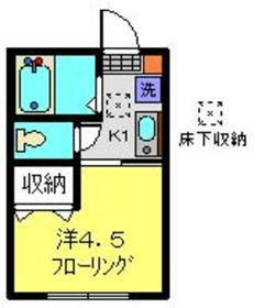 GAパーク白楽A2階Fの間取り画像