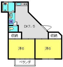 シャトルハウスⅠ2階Fの間取り画像