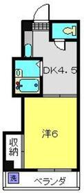 八木ビル3階Fの間取り画像