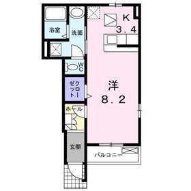 ブリーゼ1階Fの間取り画像