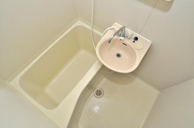 サンモール ちょうどいいサイズのお風呂です。お掃除も楽にできますよ。