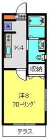 アビタシオンM堀ノ内F棟1階Fの間取り画像