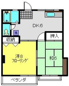 タイヨービル4階Fの間取り画像