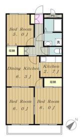 メゾンド・グランチェスタ3階Fの間取り画像