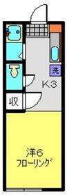 T.Oコーポ2階Fの間取り画像