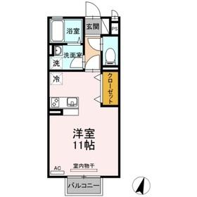 ブラウンヒル2階Fの間取り画像
