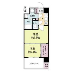 セレニテ江坂ルフレ8階Fの間取り画像