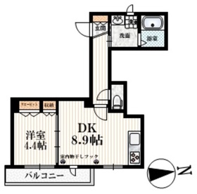 野方駅 徒歩12分2階Fの間取り画像