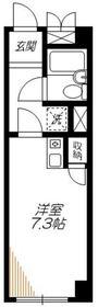高輪アサヒハイム3階Fの間取り画像