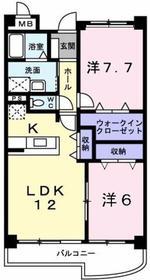 砂川七番駅 徒歩20分3階Fの間取り画像