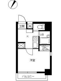 スカイコート目黒壱番館11階Fの間取り画像
