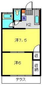 大成ハイム1階Fの間取り画像