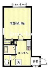 カルム神楽坂II2階Fの間取り画像