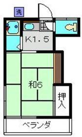 今井荘2階Fの間取り画像