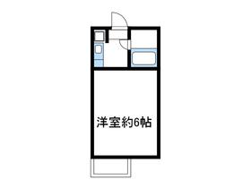 岡崎ハイツⅡ2階Fの間取り画像
