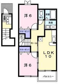 青梅駅 バス12分「吉野梅林」徒歩2分2階Fの間取り画像
