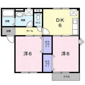 アルエットⅢ2階Fの間取り画像