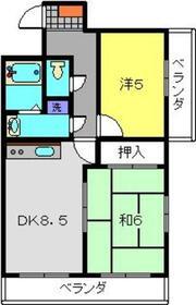 ラスール日吉2階Fの間取り画像