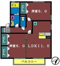 フォレストコート(鷺沼台)1階Fの間取り画像