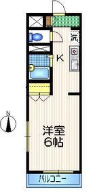クレスト・ハウス1階Fの間取り画像