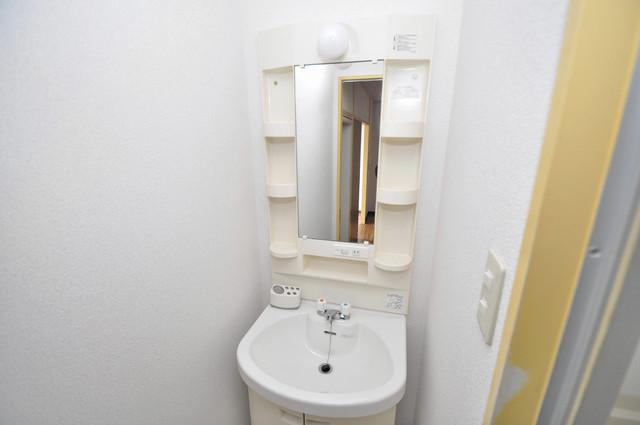 メダリアン巽 親子並んで一緒に手洗いができそうな素敵な空間です。