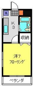ヴィラロイヤル妙蓮寺2階Fの間取り画像