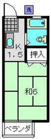 堀井ハイツ2階Fの間取り画像