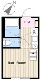 鶴間駅 徒歩15分1階Fの間取り画像
