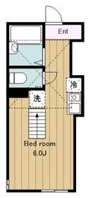 東林間駅 徒歩16分1階Fの間取り画像