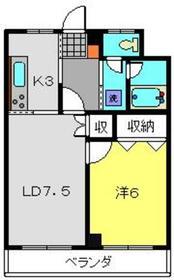 ライオンズマンション横浜三ツ沢6階Fの間取り画像