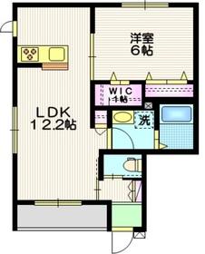 (仮称)相模原市中央区共和2丁目メゾン1階Fの間取り画像