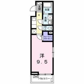 大塚・帝京大学駅 徒歩6分2階Fの間取り画像