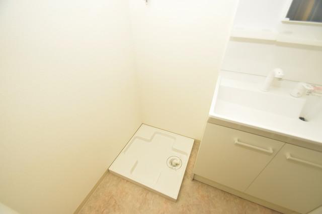 Tースクエア布施 嬉しい室内洗濯機置場は脱衣場も兼ねています。
