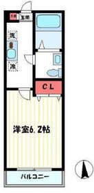 ドエル溝ノ口(ドエルミゾノグチ)1階Fの間取り画像