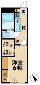 レオパレスグローリア2階Fの間取り画像