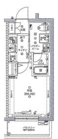 スパシエガーデン川崎梶ヶ谷5階Fの間取り画像